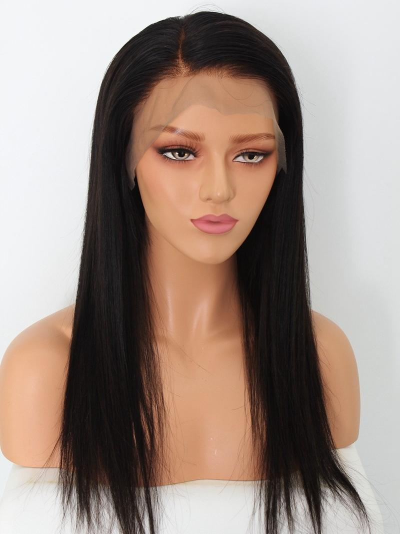Lace Human Hair Wigs Prepluck Straight Lace Front Human Hair Wigs With Baby Hair