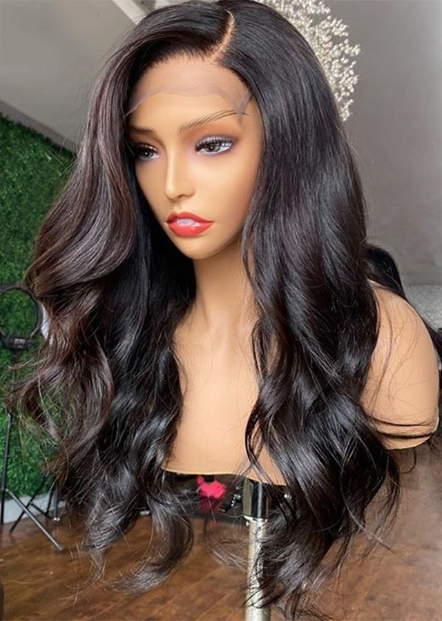 Body Wave Lace Front Human Hair Wigs For Black Women