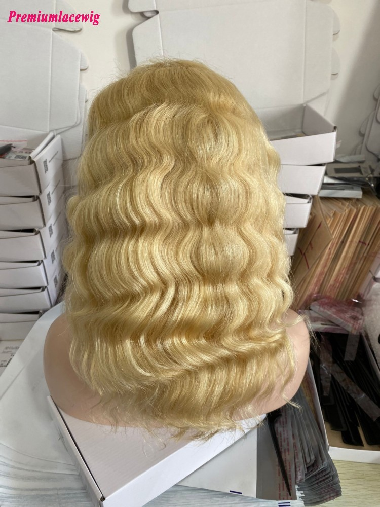 Blond 613 Lace Front Wig Body Wave Transparent Lace Color 150% Density 16inch