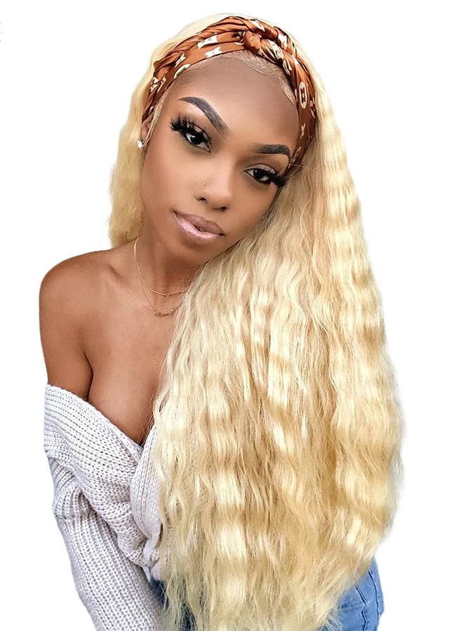 Glueless 613 Blonde Deep Wave 13x4 Lace Front Human Hair Wigs 150% Remy Brazilian Lace Frontal Wigs