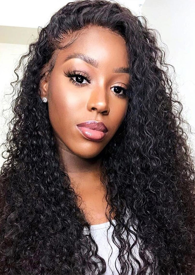 HD Lace Front Human Hair Wigs Brazilian Curly Wig For Black Women Curly Human Hair Wigs Pre Plucked Frontal Wig