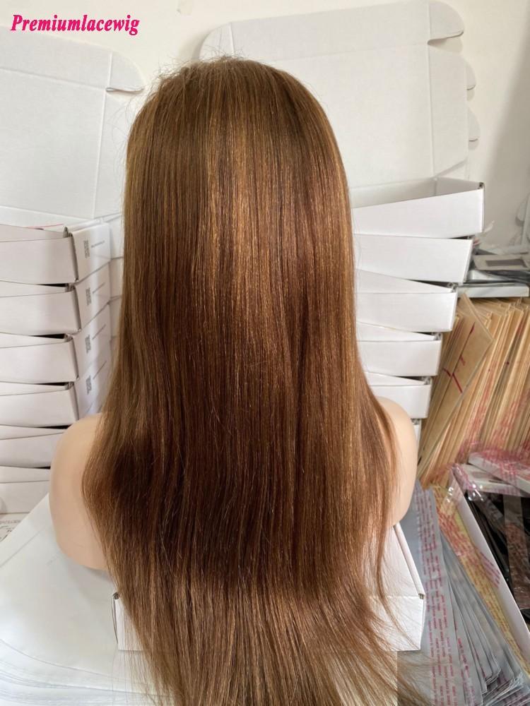 20inch  Full Lace Human Hair Wig Yaki Straight 4 Highlihght 30 Color Human Hair Wigs