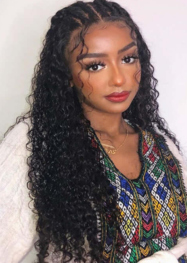 Hd Transparent Lace 13x6 Loose Curly Lace Front Wig 180 Density Glueless Preplucked Remy Brazilian Human Hair Wigs
