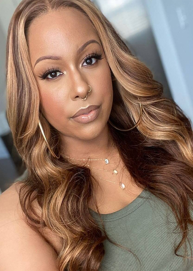 piano ombre color 1B 427 Body Wave Lace Front Wig Brazilian Colored Human Hair Wigs For Women Honey Blonde