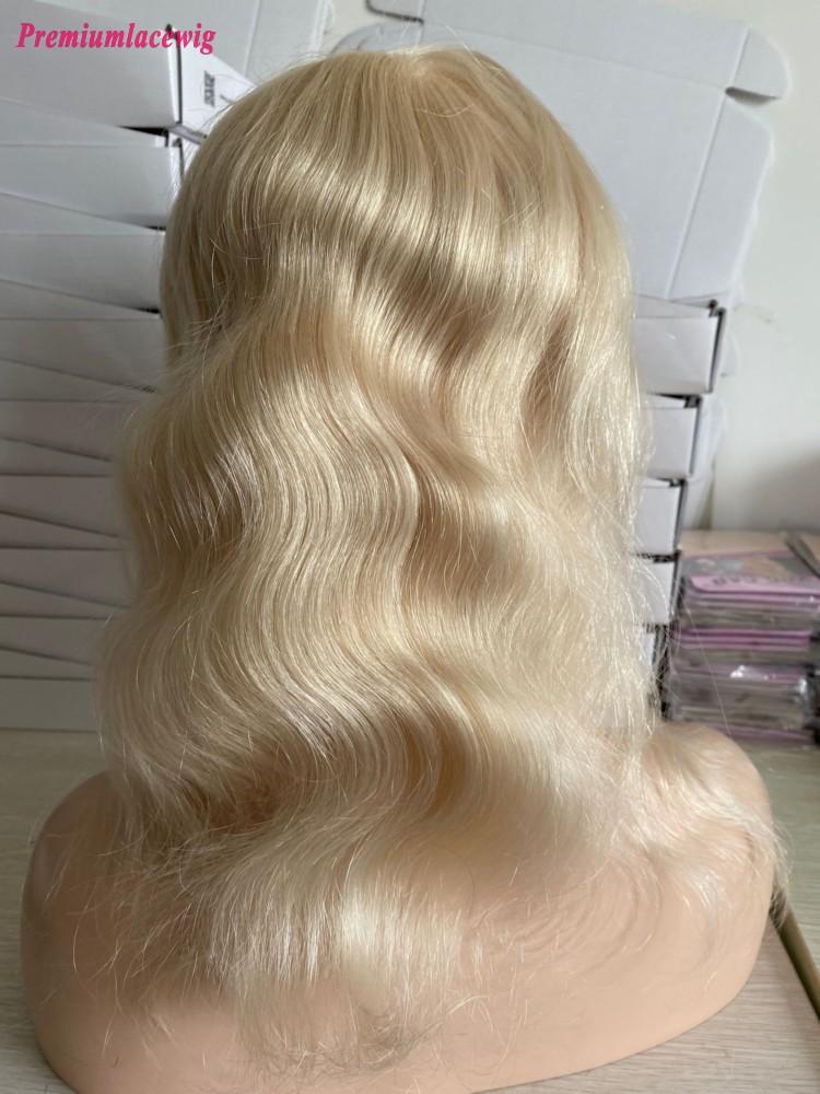 14inch PU perimeter with mono inside blonde human hair piece
