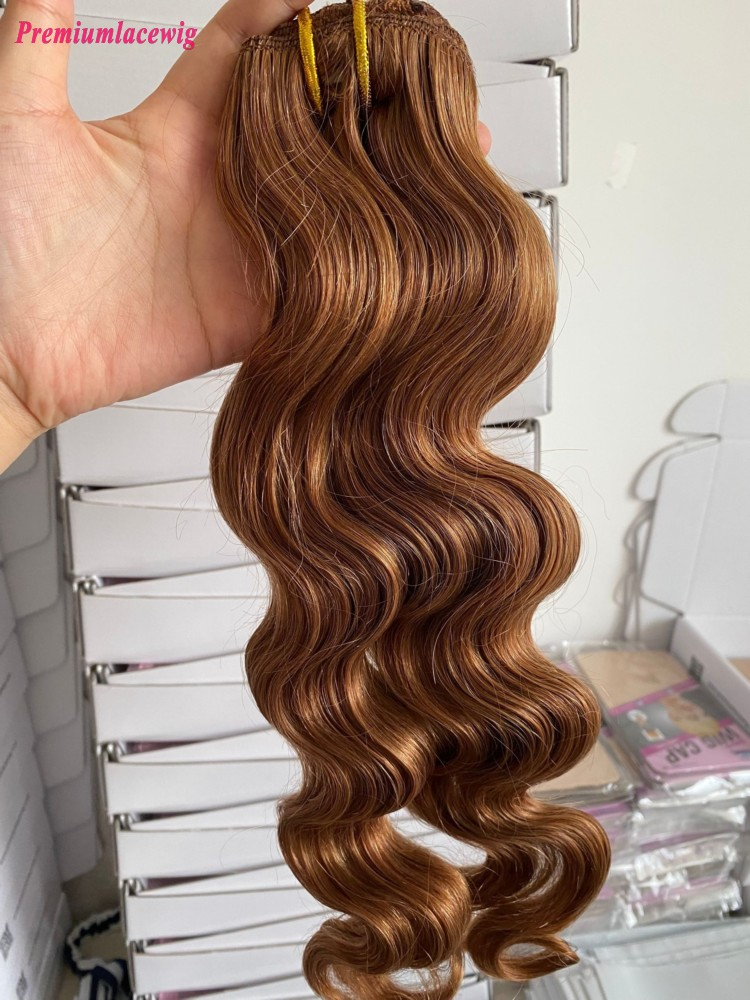 18inch  #30 7pcs Body Wave Malaysian Clip in Human Hair Extensions