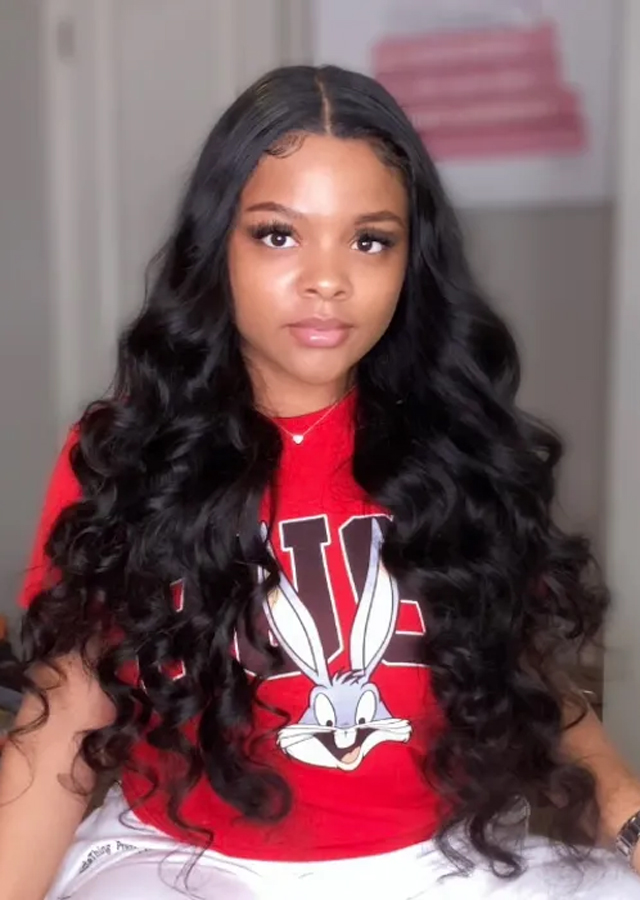 24inch 13x6 Lace Front Wig 250% Density Body wave Human Hair Wigs