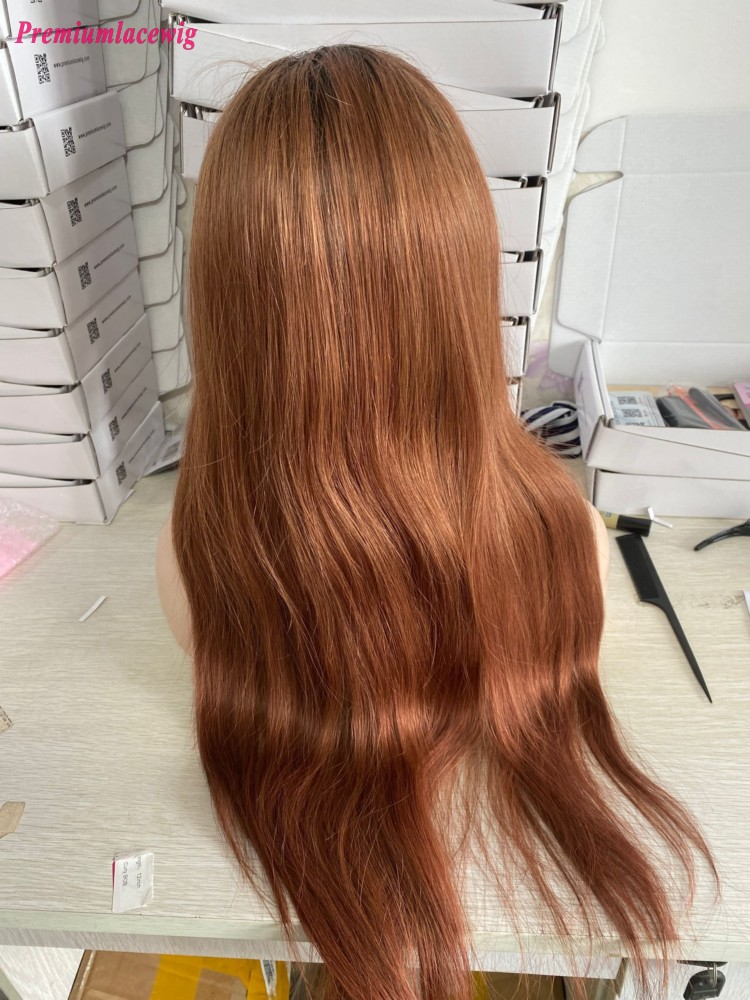 Colored 1B 33 Curly Wave Glueless Full Lace Wig Malaysian Human Hair Wigs For Black Women
