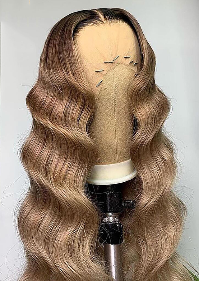 Honey Blonde Color 1B/9 Lace Front Wigs Ombre Human Hair Wig Deep Wave Frontal Wigs For Women Human Hair