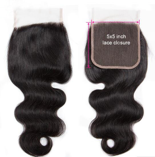 Body Wave HD Lace Closure Malaysian Virgin Hair 5X5 Lace Closure