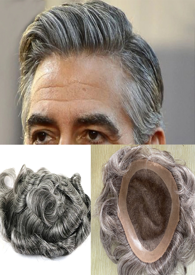 Color 580 High Quality Skin Toupee Human Hair 8 x 10 European Hair Touch Indian Men Hair Wig